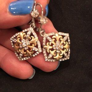 Gold & Silver Rhinestone Earrings